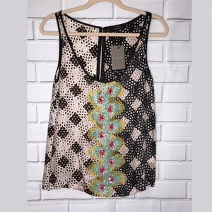 ANTHROPOLOGIE l New Fish Fry embellished tank sm